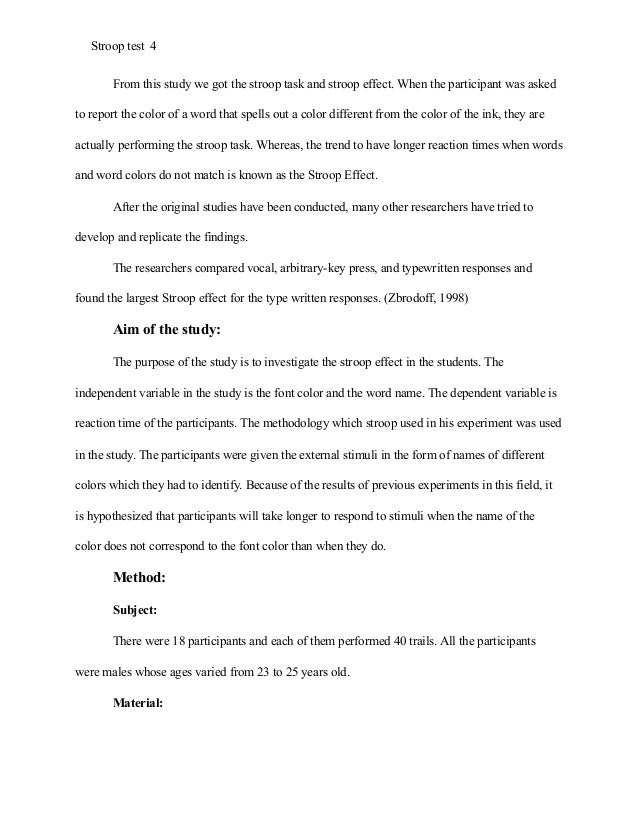 Term Papers And Essays  Examples Of Thesis Statements For English Essays also Research Essay Thesis Stroop Effect Research Paper Example Apa Style Narrative Essay Thesis