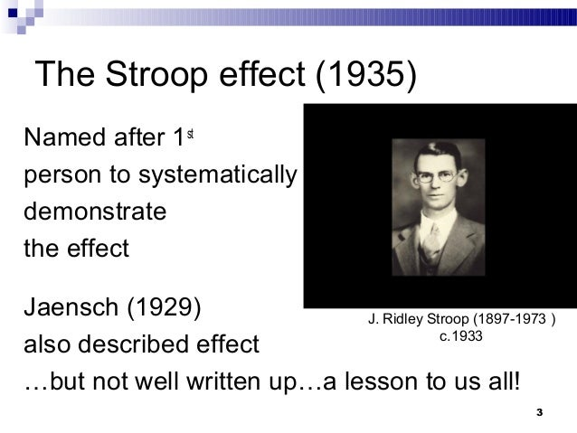 The stroop effect experiment essay