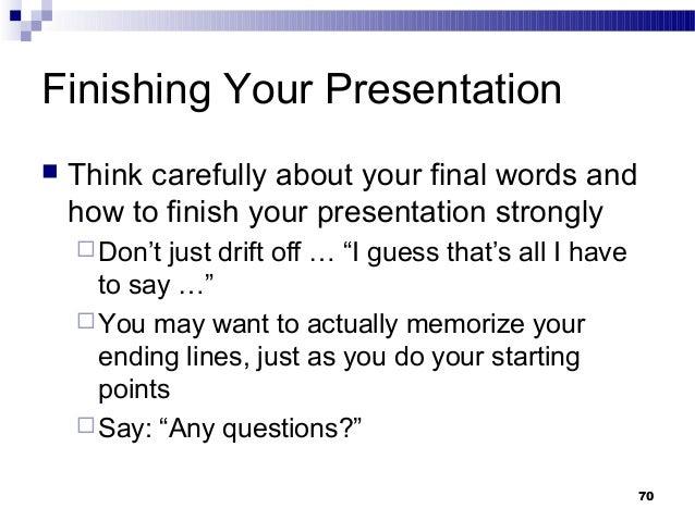 How to memorize lines for a presentation