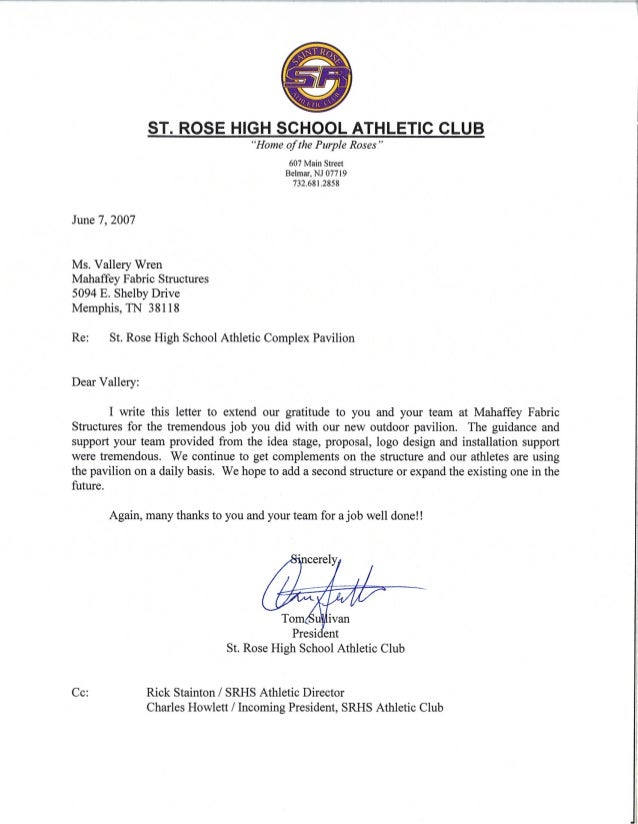 St rose high school [testimonial]