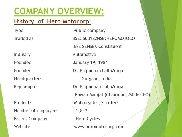 vision and mission of hero honda company If you would like to know more about our company please feel free to visit our head ofic at habsiguda vision & mission ride honda is a new organization with a big vision we take pride in sharing our vision & mission statements with you our vision .