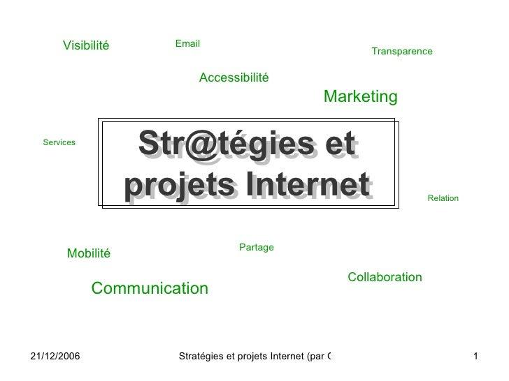 Str@tégies et projets Internet Visibilité Marketing Communication Services Mobilité Partage Collaboration Email Accessibil...