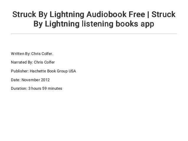 Struck By Lightning Chris Colfer Book