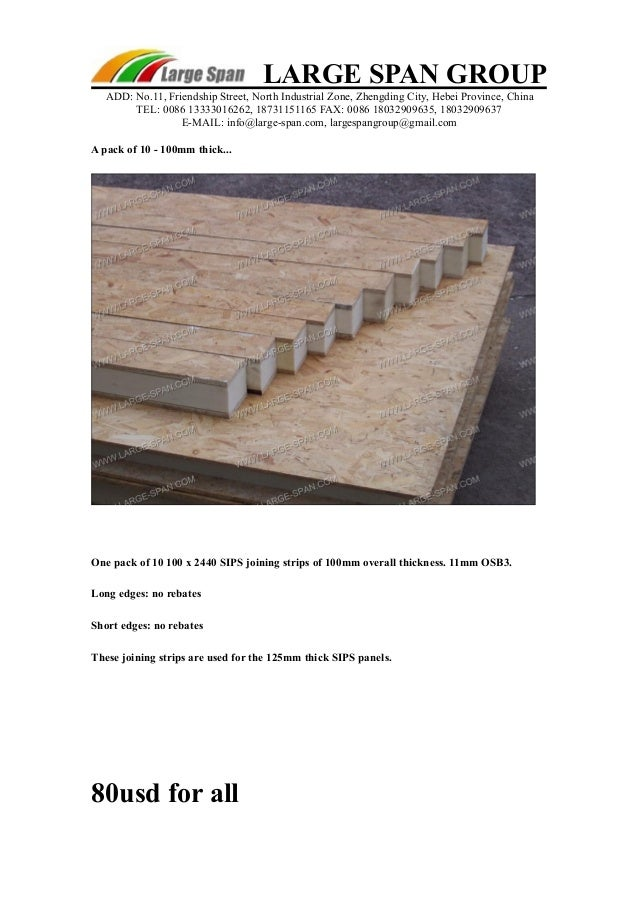 Structural insulated panels price