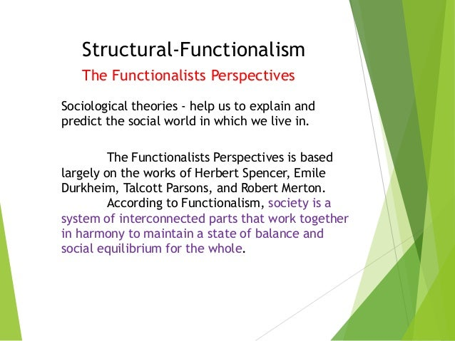 Writing a paper on structural functionalism