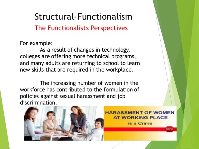 structural functionalism instances for society