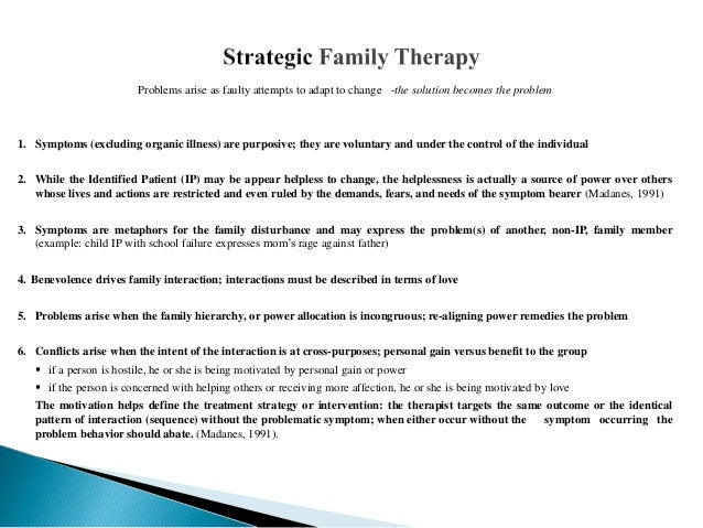 Structural Strategic Family Therapy