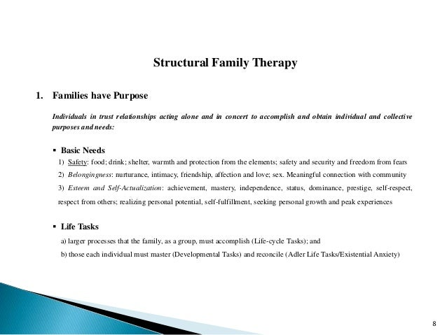 define structural family therapy