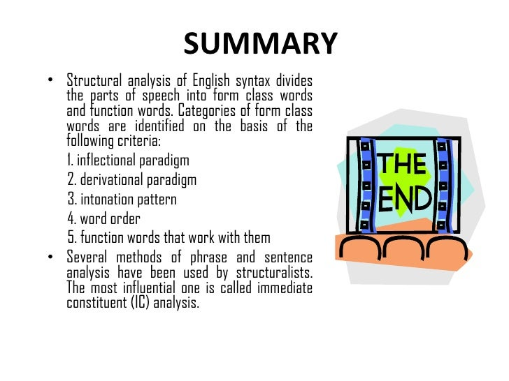 Structural analysis of english syntax