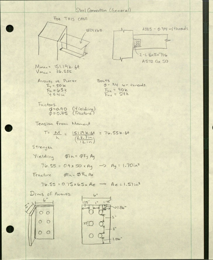 Structural calculations (conections and slab)