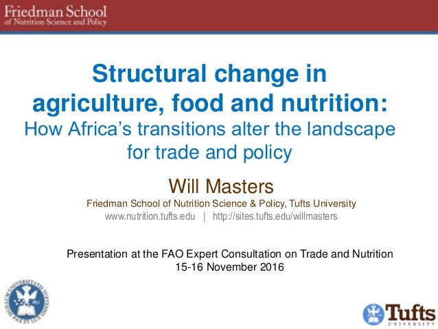 Structural change in agriculture, food and nutrition: How Africa's transitions alter the landscape for trade and policy Wi...