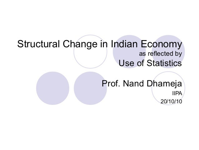 Structural Change in Indian Economy as reflected by Use of Statistics Prof. Nand Dhameja IIPA 20/10/10