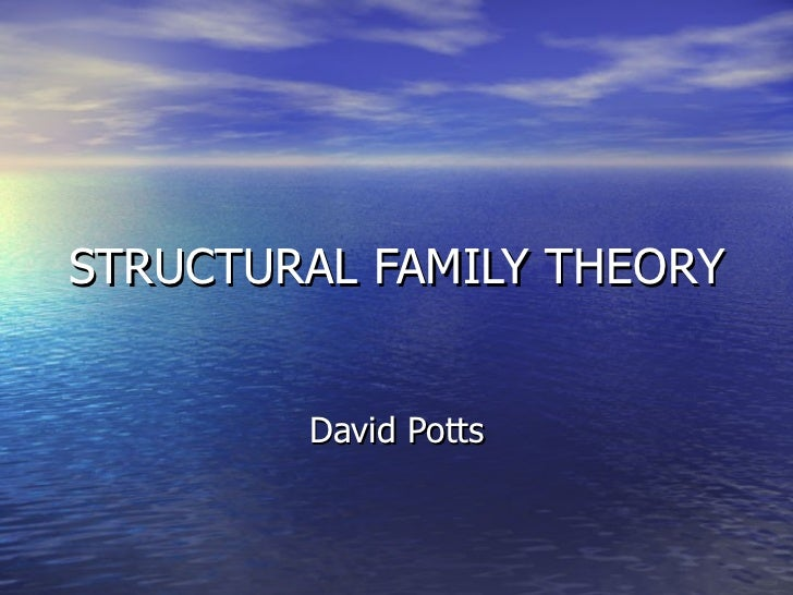 STRUCTURAL FAMILY THEORY David Potts