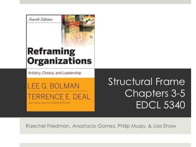 Structural Frame Chapters 3-5 EDCL 5340 Raechel Friedman, Anastacio Gomez, Philip Muzzy, & Lisa Shaw