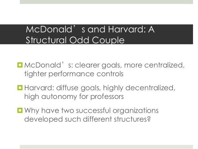 mintzberg and mcdonalds What is strategy 2 five ps of strategy  box 2 contains an extract from henry mintzberg's 'five ps for strategy' (mintzberg, 1996)  while mcdonald's has.