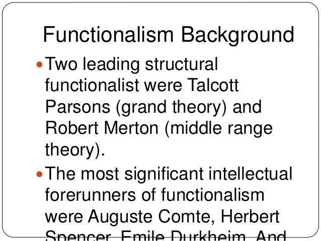 structural functionalism