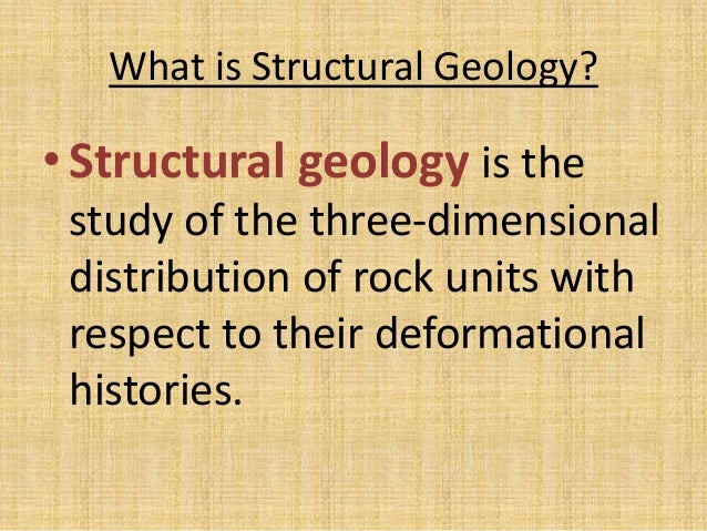 Structural  Geology Slide 2