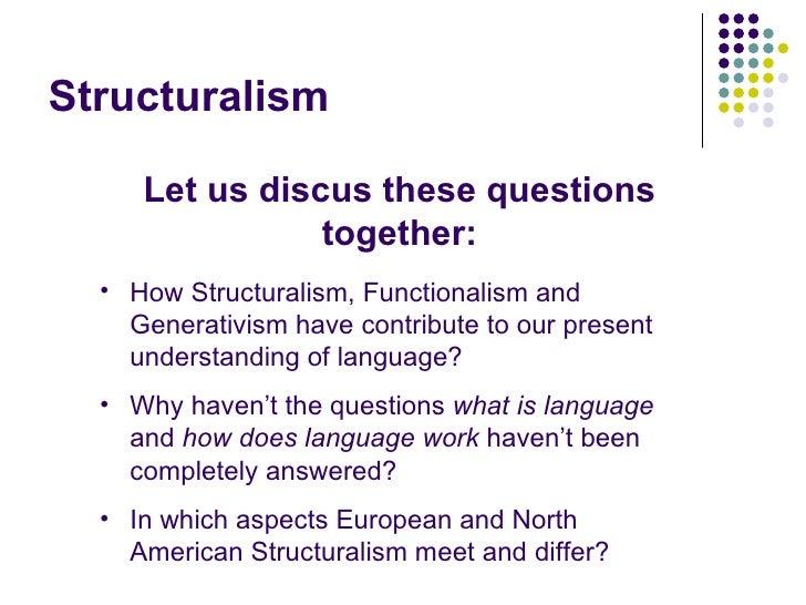 structuralism against functionalism essay