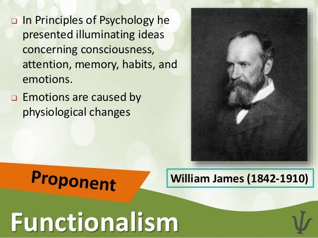 structuralism and functionalism Functionalism: functionalism,, in psychology, a broad school of thought originating in the us during the late 19th century that attempted to counter the german school of structuralism led by edward b titchener functionalists, including psychologists william james and james rowland angell, and philosophers.
