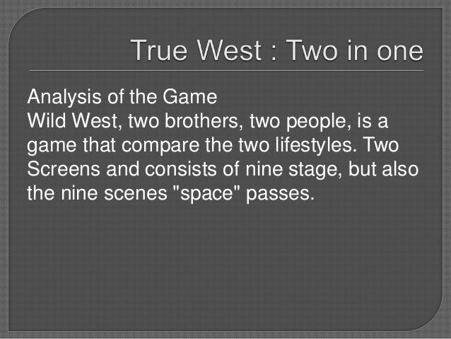 true west sam shepard analysis