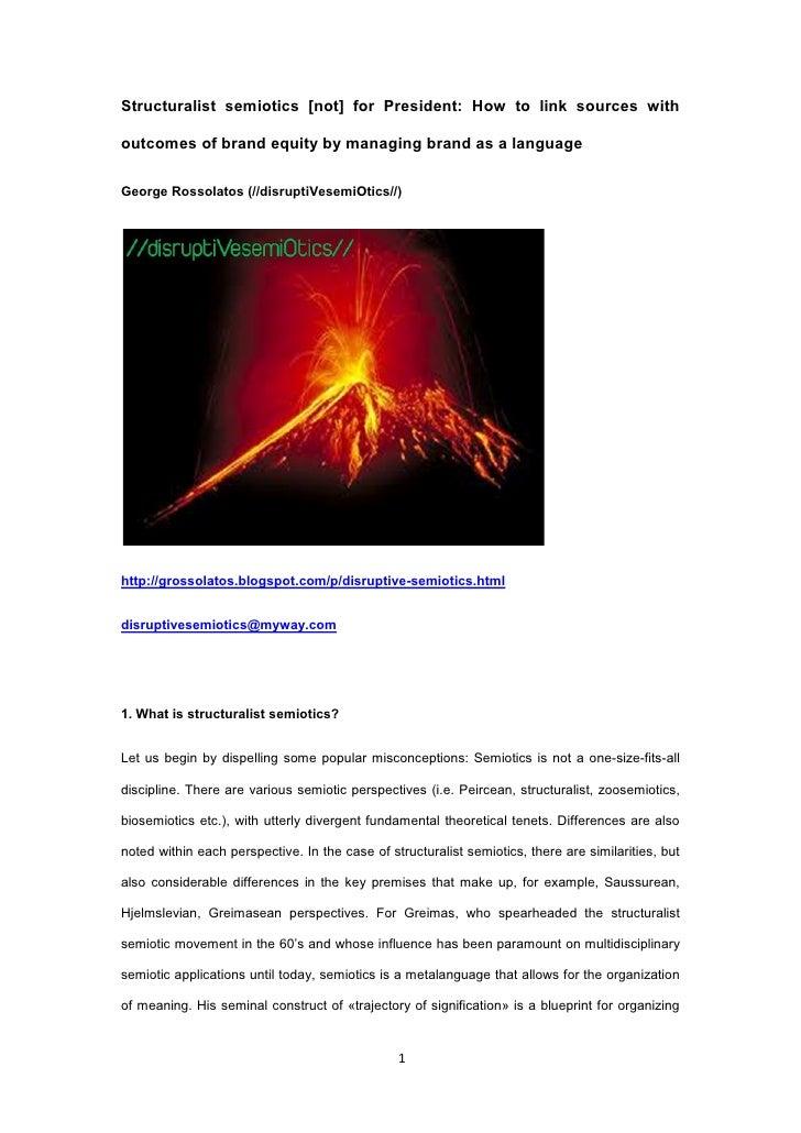 Structuralist semiotics and brand equity  grossolatos 30 5 2012