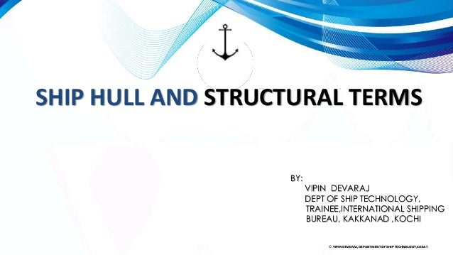 Structural members of ship