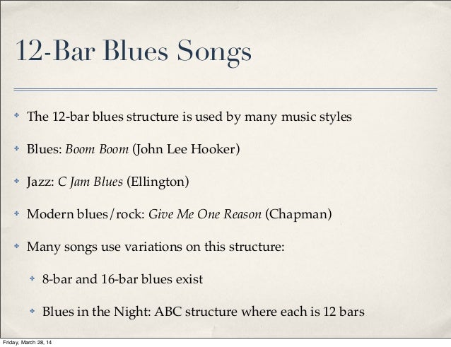 how to write a good blues song