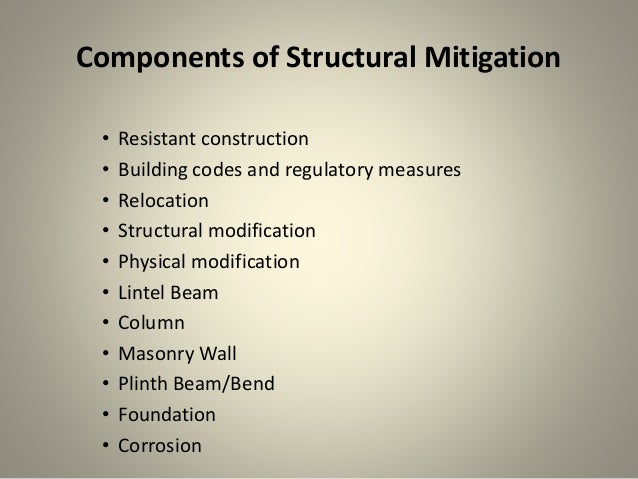 Structural And Non Strutural Mitigation