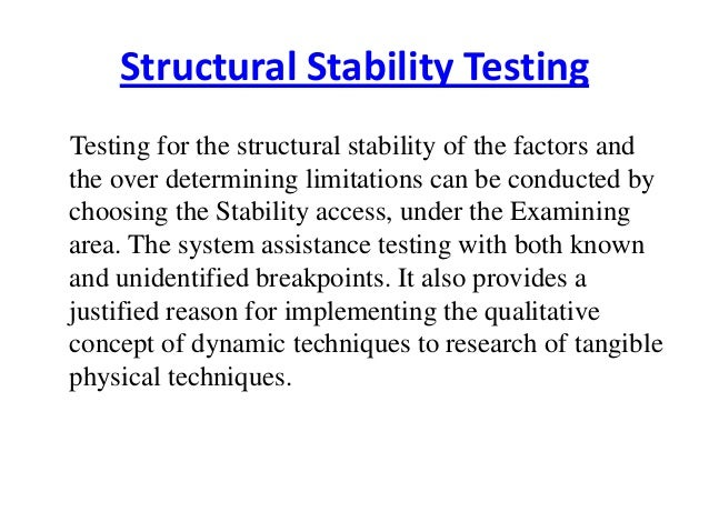 Structural stability testing Slide 2