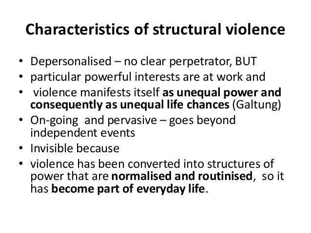 structural violence bad