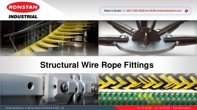 Structural Wire Rope Fittings - Ronstan Industrial