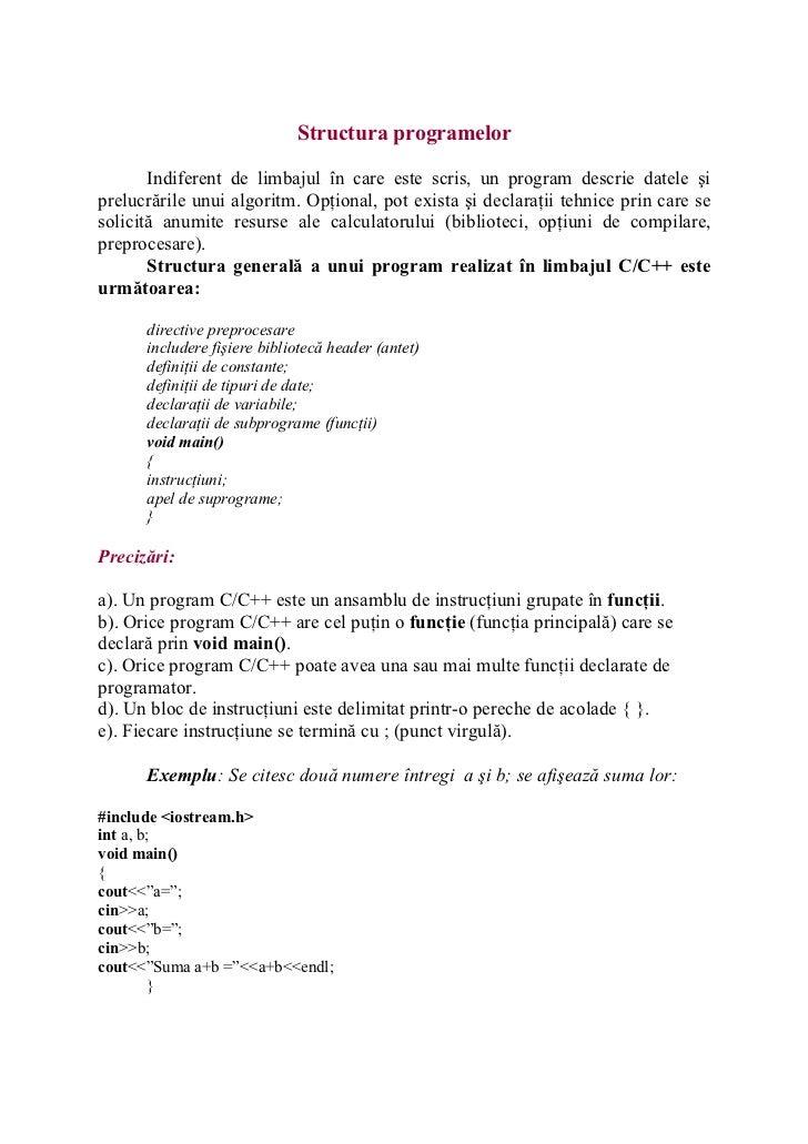 Structura programelor
