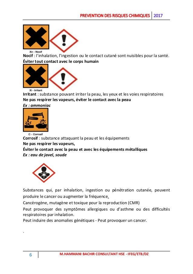 Pr vention des risques chimiques - Eau de javel danger ...