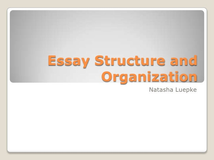 Essay Structure and Organization <br />Natasha Luepke<br />