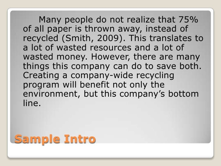 benefit recycling essay