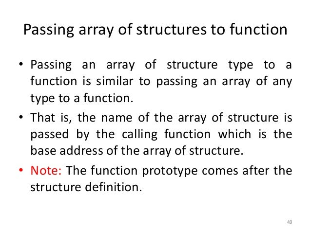 Structure in C