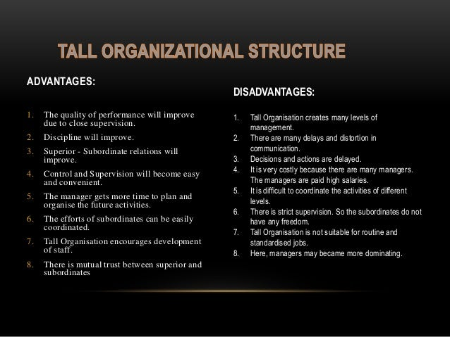 disadvantages of tall organizational structure