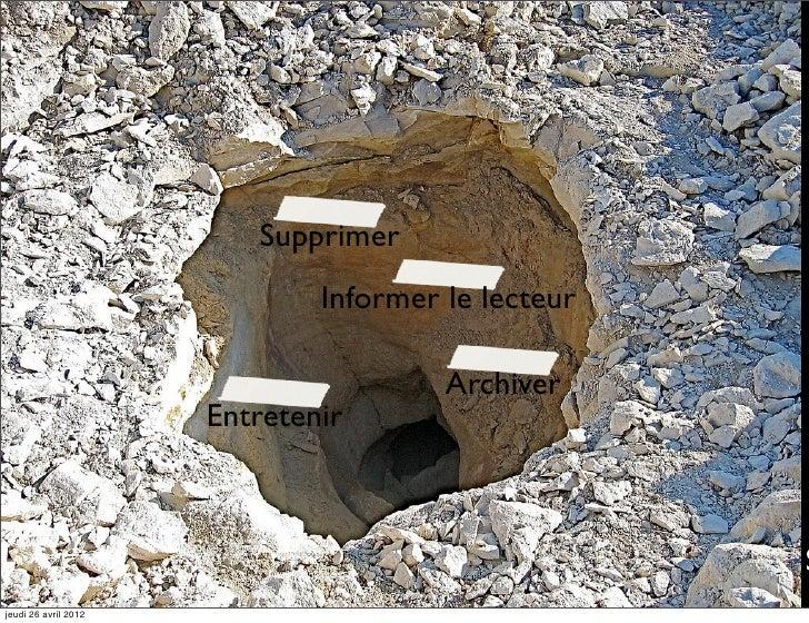 Supprimer                              Informer le lecteur                                       Archiver                 ...
