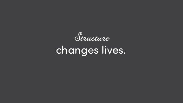 @ redsesame #confabcentral 58 changes lives. Structure