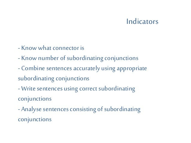 structure3 subordinating conjunction