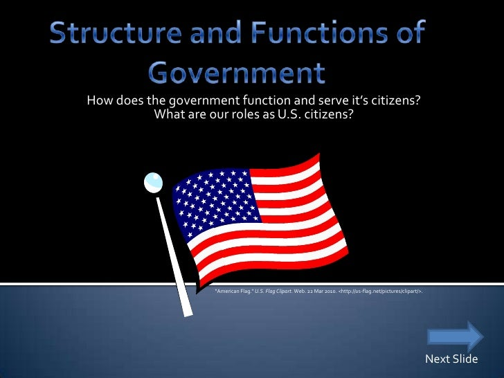 How does the government function and serve it's citizens?           What are our roles as U.S. citizens?                  ...