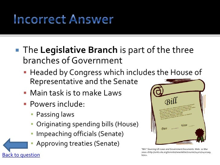 what are the responsibilities of the legislative branch