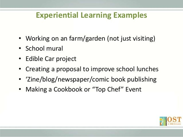 Experiential learning theory examples.