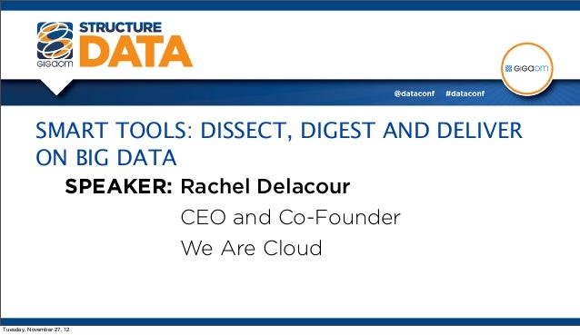 SMART TOOLS: DISSECT, DIGEST AND DELIVER           ON BIG DATA             SPEAKER: Rachel Delacour                       ...