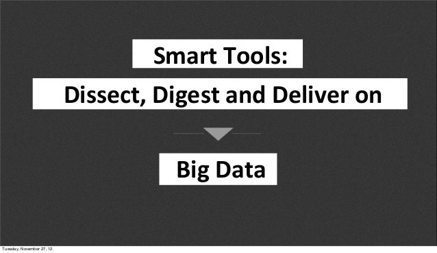 SMART TOOLS: DISSECT, DIGEST AND DELIVER BIG DATA from Structure:Data 2012 Slide 2