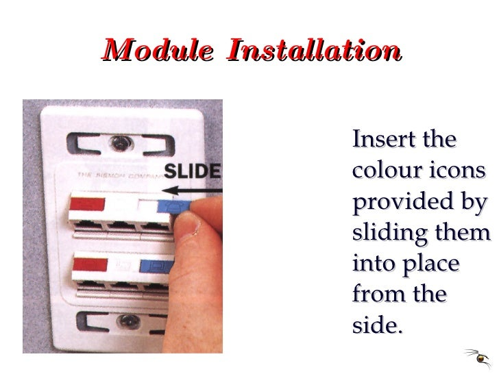 Module Installation <ul><li>Insert the colour icons provided by sliding them into place from the side. </li></ul>
