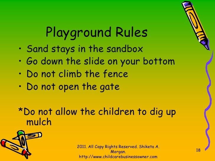 playground rules for preschoolers what a structured child care setting looks like 131