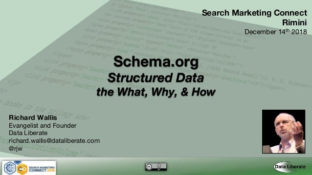 Schema.org Structured Data the What, Why, & How Search Marketing Connect Rimini December 14th 2018 Richard Wallis Evangeli...
