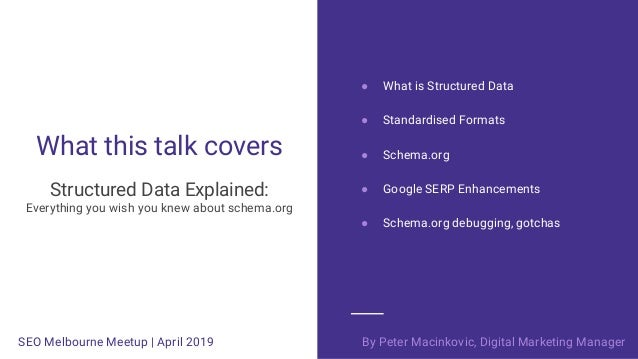 Structured Data Explained  - Everything you wish you knew about schema.org Slide 3