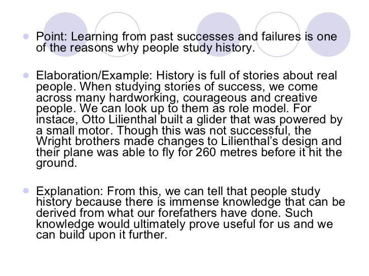 remain studying history essay
